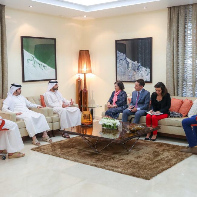 سمو الشيخ راشد بن حميد يستقبل قنصل فرنسا