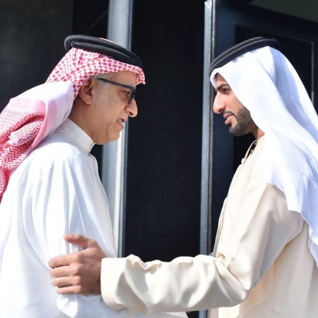 راشد بن حميد يتلقى تهنئة رئيس الاتحاد الآسيوي لكرة القدم