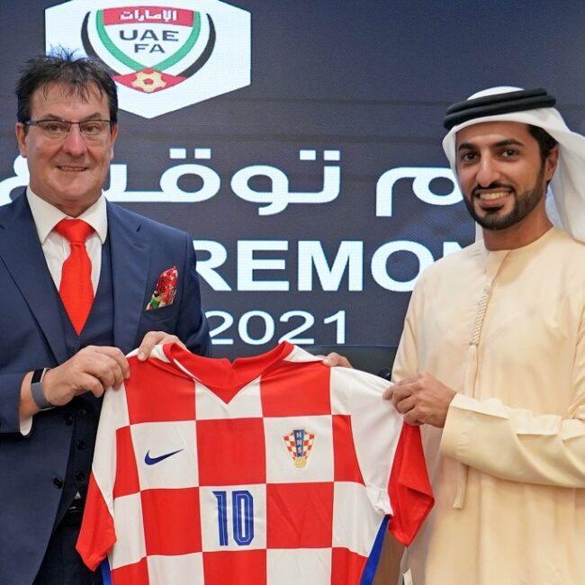 بحضور راشد بن حميد النعيمي اتحاد الكرة يوقع اتفاقية تعاون مع نظيره الكرواتي